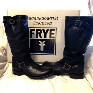 FRYE Veronica Slouch Boot, Womdns Size 9, Black